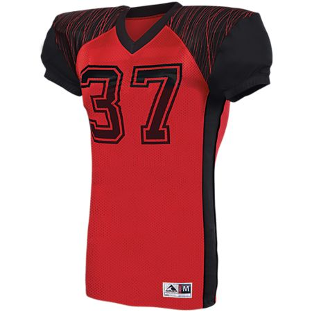 AUGUSTA ZONE PLAY TRICOT MESH FOOTBALL JERSEY WITH PRINTED SPANDEX YOKE -9575/9576