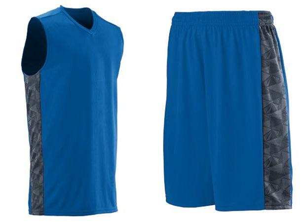 a5cb52b3a AUGUSTA FAST BREAK PERFORMANCE POLY BASKETBALL UNIFORMS WITH PRINTED SIDE  PANELS - 1720