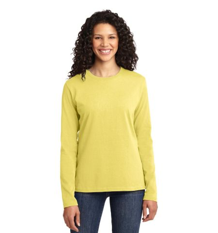 Port & Company ®  Ladies Long Sleeve Core Cotton Tee. LPC54LS