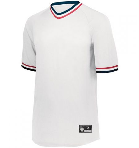 HOLLOWAY RETRO V-NECK BASEBALL JERSEY - 221021 / 221221