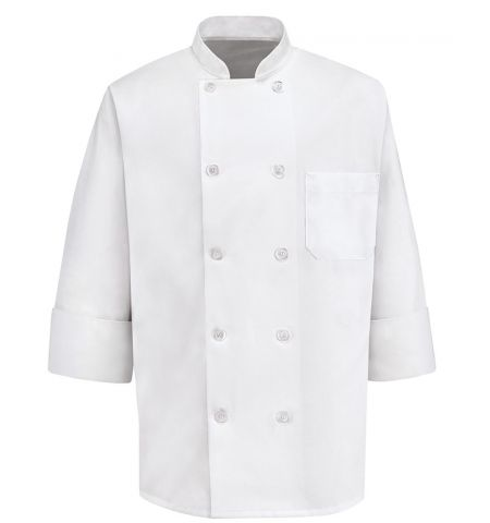CHEF DESIGNS - TEN PEARL BUTTON CHEF COAT - 0400