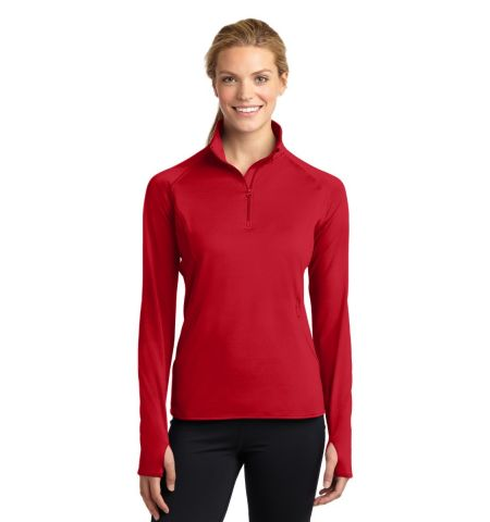 Sport-Tek ®  Ladies Sport-Wick ®  Stretch 1/2-Zip Pullover. LST850