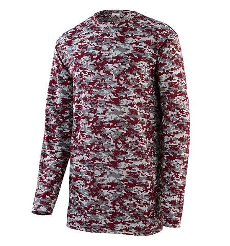 AUGUSTA DIGI CAMO WICKING LONG SLEEVE T-SHIRT - 2788