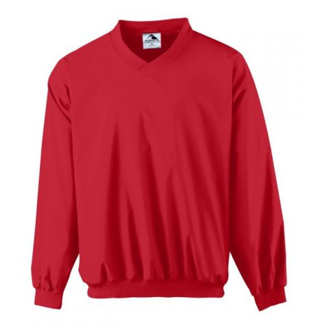 AUGUSTA MICRO POLY V-NECK LINED WINDSHIRT - 3415
