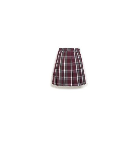 BECKY THATCHER KICK PLEAT ADJUSTABLE WAIST SKIRT - 3951
