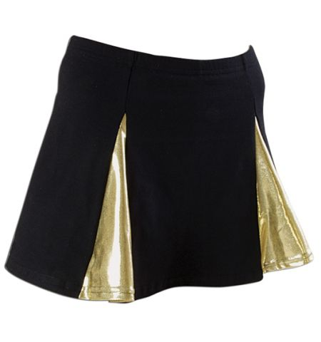 PIZZAZZ PLEATED METALLIC V-PANEL CHEER SKIRT - 4200M / 4100M