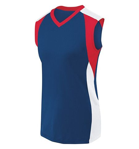 "HIGH 5 WOMENS 4-WAY STRETCH ""PIRANHA"" SLEEVELESS VOLLEYBALL JERSEY - 342152"