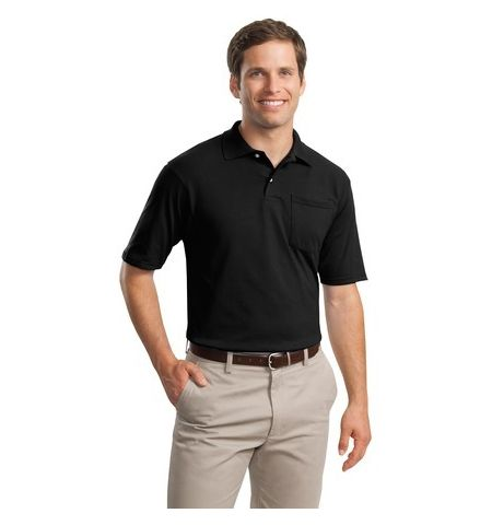 JERZEES -SpotShield  Jersey Knit Sport Shirt with Pocket. 436MP