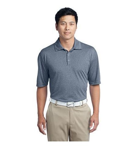 Nike Golf Dri-FIT Heather Polo with Slv Swoosh. 474231