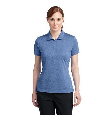 Nike Golf Ladies 100% Polyester Dri-FIT Heather Polo - 474455