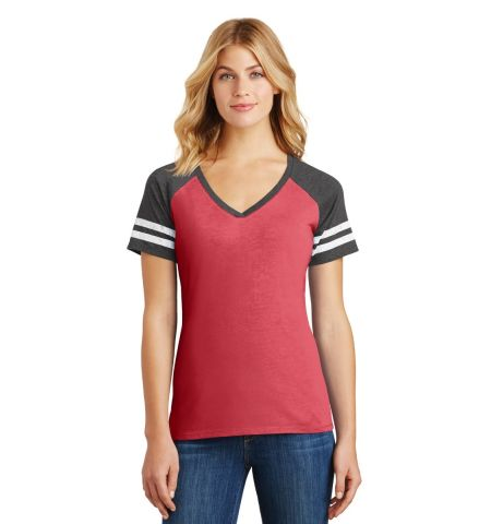 District  ®  Women's Game V-Neck Tee. DM476