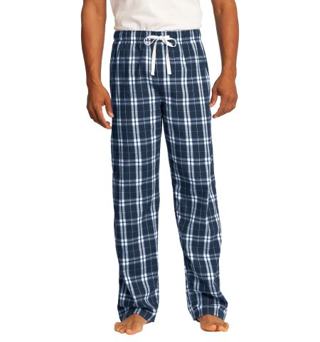 District Youngs Men's Cotton Plaid Flannel Pants With Draw String Cord - DT1800
