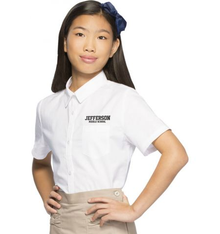 CLASSROOM APPAREL GIRLS SHORT SLEEVE OXFORD SHIRT - 57362