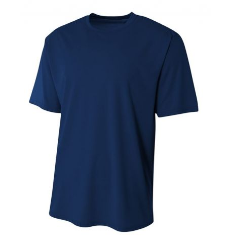A4 SOLID COLOR 3.5 OZ PERFORMANCE POLYESTER MARATHON TEE - N3234