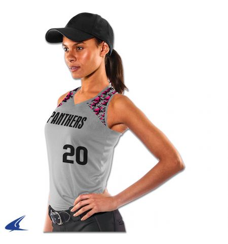 CHAMPRO AT BAT  LADIES DRI ACTIVE CLOTH RACER BACK SOFTBALL JERSEY - BS20