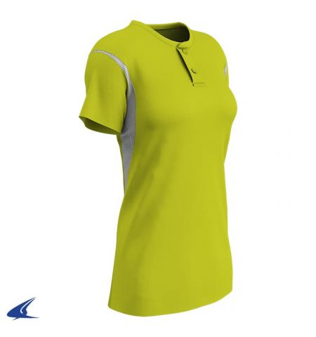 CHAMPRO LEGACY COLOR BLOCK 2-BUTTON LADIES SOFTBALL JERSEY - BS28