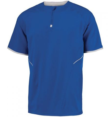 RUSSELL ATHLETIC - 1/4 ZIP SHORT SLEEVE PULL OVER - 872RVM