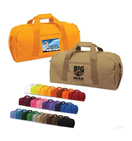 DALLAS SOLID COLOR POLYESTER DUFFEL BAG, AVAILABLE IN 26 COLOR