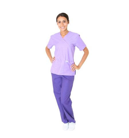 SPECTRUM LADIES MOCK-WRAP 2-POCKET TUNIC - 9506