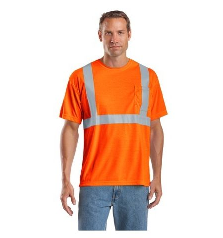 5.9 OZ POLYESTER ANSI 107 CLASS 2 SAFETY T-SHIRT-CS401
