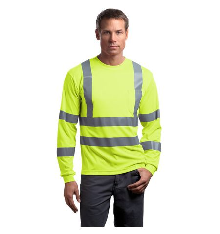 CornerStone - ANSI Class 3 Long Slv Reflective T-Shirt. CS409