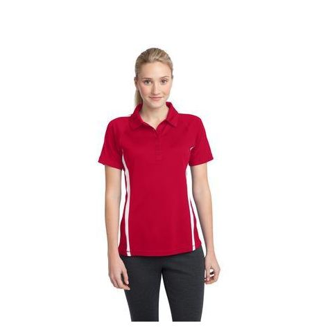 Sport-Tek - Ladies Micro-Mesh Colorblock Polo. LST685