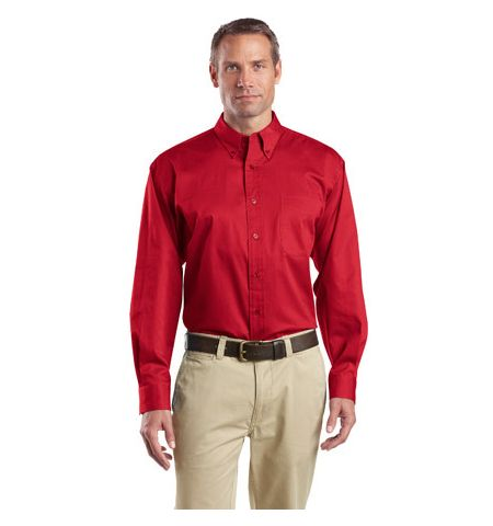 Cornerstone Long Sleeve SuperPro  4.6 oz Twill Shirt. SP17