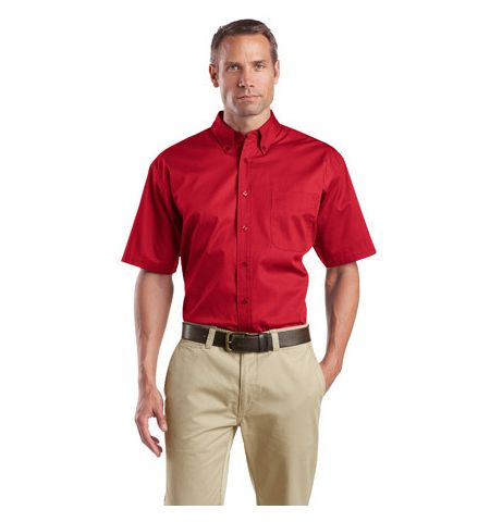 Short Sleeve SuperPro 4.6 oz Poly/Cotton Twill Shirt. SP18
