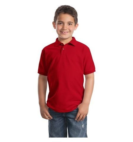 PORT AUTHORITY YOUTH SILK TOUCH POLO SHIRT - Y500