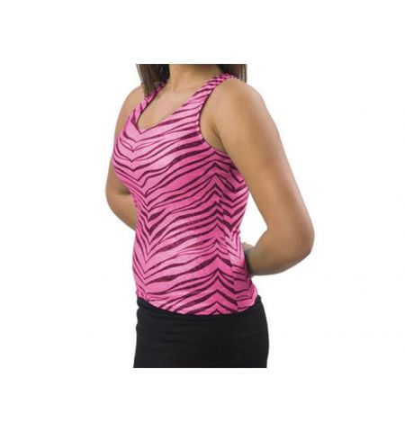 PIZZAZZ ZEBRA GLITTER RACERBACK CHEER TOP / DANCE TOP -  9400ZG / 9300ZG