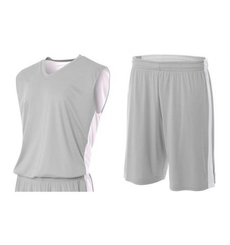 A4 REVERSIBLE MOISTURE MANAGMENT PERFORMANCE POLY BASKETBALL UNIFORM - N2320 / N5284