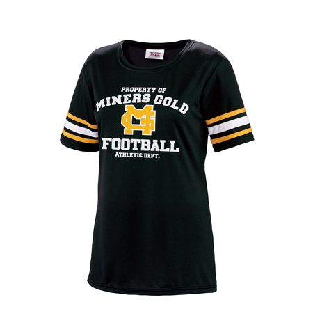 """GAME DAY"" FAN SHIRT WITH STRIPE ACCENT - 1379"