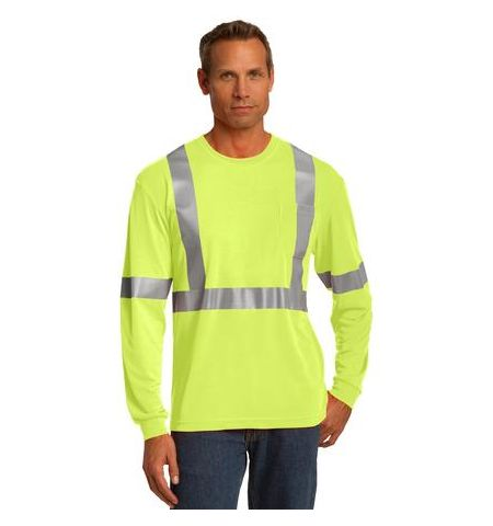 5.9 OZ POLYESTER ANSI 107 CLASS 2 LONG SLEEVE T-SHIRT
