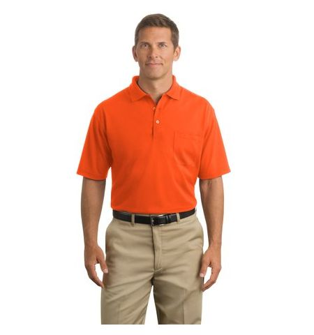 Cornerstone Industrial Pocket Pique Polo. CS402P