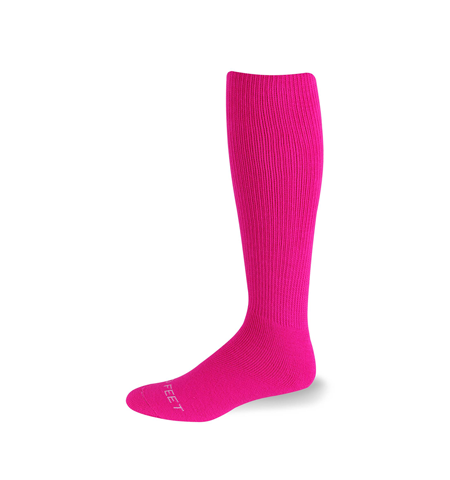 HOT PINK MULTI SPORT ACRYLIC/NYLON BLEND TUBE SOCK