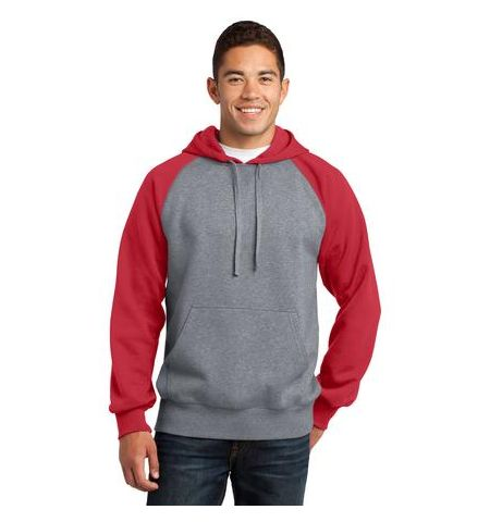SPORT-TEK RAGLAN COLORBLOCK PULL OVER SWEATSHIRT