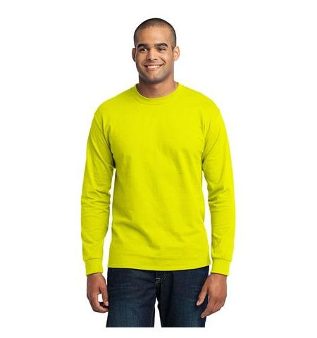 P & C 50/50 COTTON POLY BLEND LONG SLEEVE SAFETY T-SHIRT