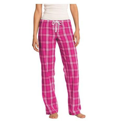DISTRICT JUNIORS COTTON PLAID FLANNEL PANTS WITH DRAWSTRING CORD WAIST - DT2800