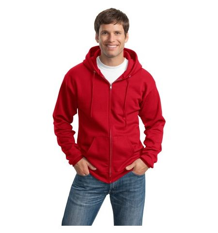 P & C 7.8 OZ 50/50 CLASSIC FULL ZIPPER HOODED SWEATSHIRT