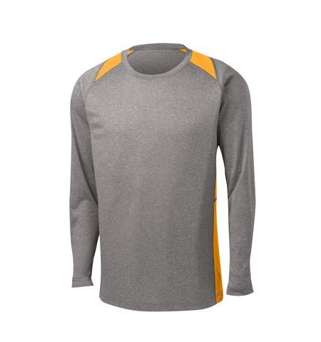 SPORT-TEK LONG SLEEVE HEATHER COLORBLOCK CONTENDER TEE - ST361LS