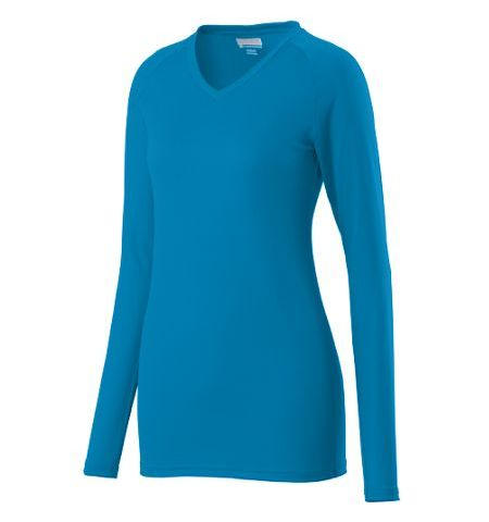 AUGUSTA ASSIST LONG SLEEVE POLY/SPANDEX SOLID COLOR JERSEY - 1330