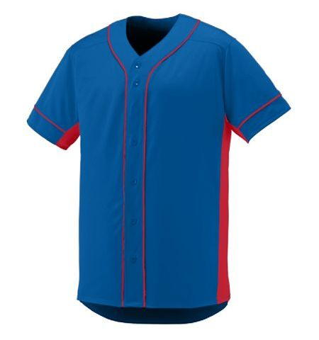 AUGUSTA SLUGGER PROPELIT PERFORMANCE POLYESTER  FULL BUTTON JERSEY - 1660