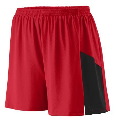 AUGUSTA SPRINT COLOR BLOCK PINHOLE MESH PERFORMANCE SHORTS - 335