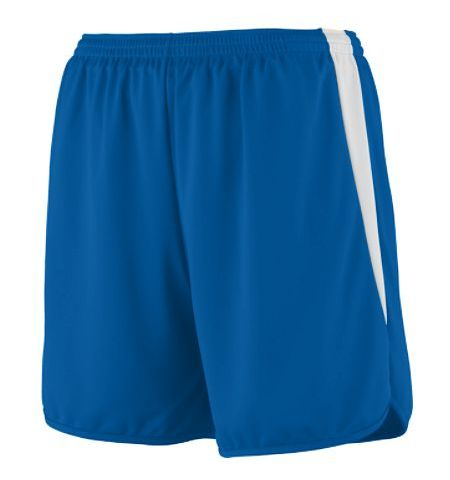 "AUGUSTA ""RAPID PACE"" POLYESTER WICKING TRACK SHORTS WITH COLOR BLOCK INSERT - 345 / 346"