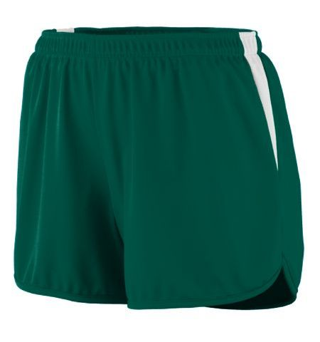 "AUGUSTA LADIES ""RAPID PACE"" POLYESTER WICKING TRACK SHORTS WITH COLOR BLOCK INSERT - 347"