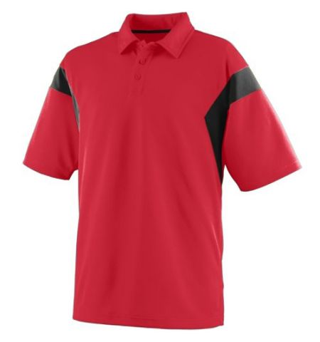 "ADULT TEXTURED WICKING POLY ""SIDELINE"" POLO"