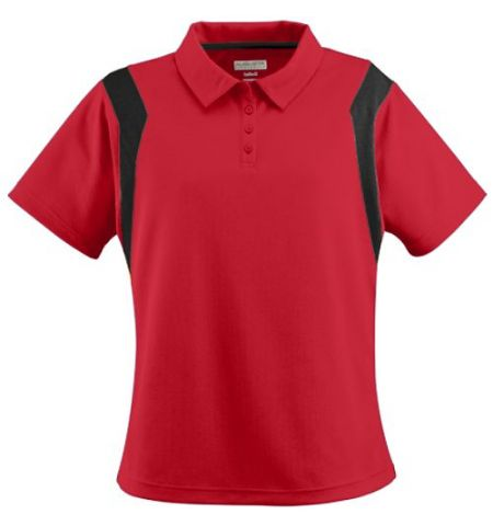 "LADIES TEXTURED WICKING POLY ""SIDELINE"" POLO - 5075"