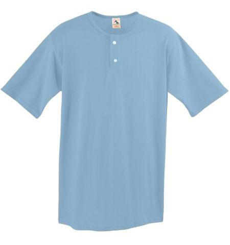 AUGUSTA ADULT 50/50SOLID COLOR 2-BUTTON JERSEY - 580