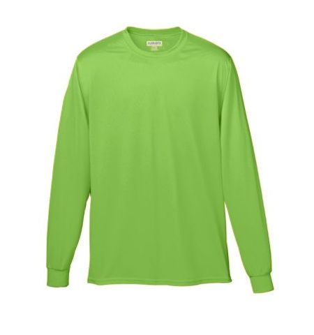 AUGUSTA SOLID COLOR WICKING LONG SLEEVE T-SHIRT - 788 / 789