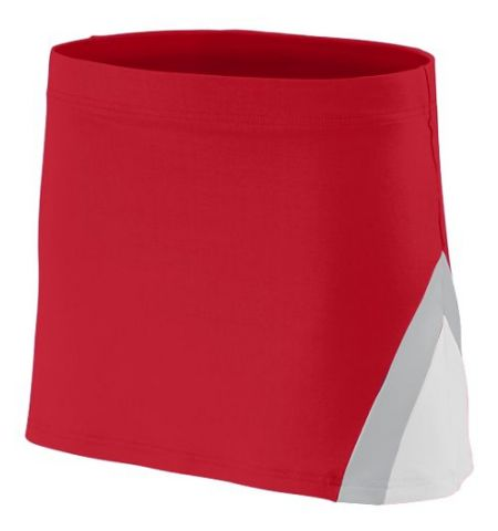 AUGUSTA CHEERFLEX POLYESTER/SPANDEX CHEER SKIRT WITH SIDE COLOR INSERTS - 9205